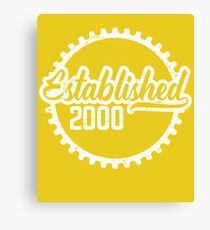 Established 2000  Canvas Print