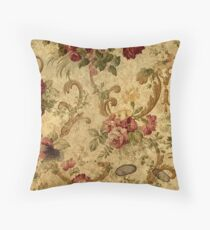 Vintage,tapestry,floral,elegant,victorian,rustic,grunge,elegant,chic Throw Pillow