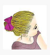 BLOND GIRL Photographic Print
