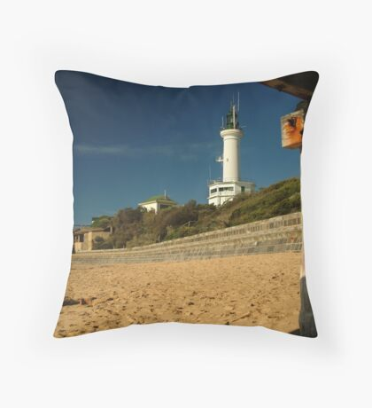Blue Skies Pt Lonsdale Throw Pillow