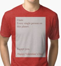 Except You Tri-blend T-Shirt