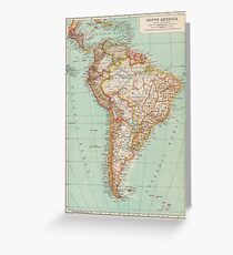 South America Antique Maps Greeting Card