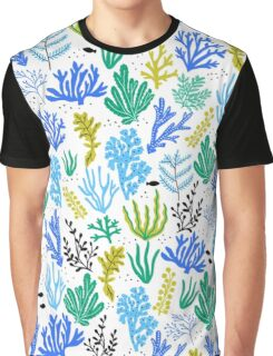 Marine life, seaweed illustration T-shirt Graphique