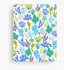 Marine life, seaweed illustration Canvas Print