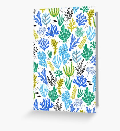 Marine life, seaweed illustration Greeting Card