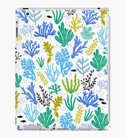 Marine life, seaweed illustration iPad Case/Skin