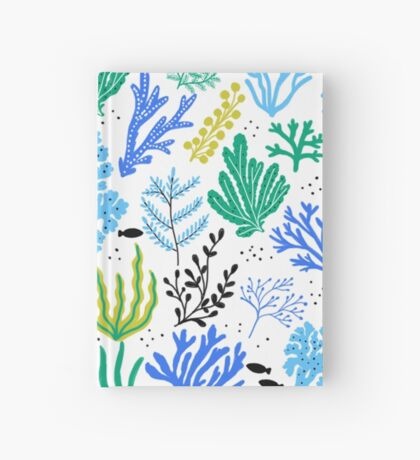 Marine life, seaweed illustration Hardcover Journal