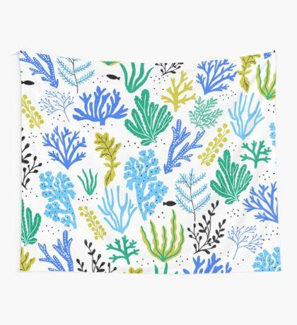 Marine life, seaweed illustration Wall Tapestry