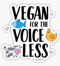 Vegan for the Voiceless Compassion T-Shirt Sticker