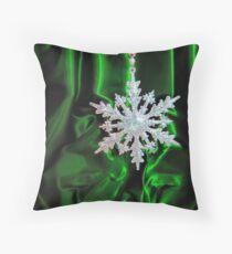 Christmas Snowflake Throw Pillow