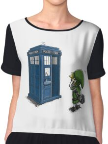The Legend of Zelda & Doctor Who - Link (Tardis) Chiffon Top