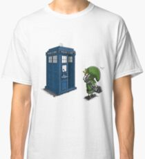 The Legend of Zelda & Doctor Who - Link (Tardis) Classic T-Shirt