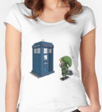 The Legend of Zelda & Doctor Who - Link (Tardis) Women's Fitted Scoop T-Shirt