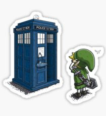 The Legend of Zelda & Doctor Who - Link (Tardis) Sticker
