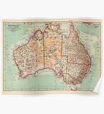 Australia Antique Maps Poster
