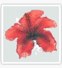 Watercolor red hibiscus Sticker
