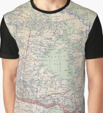 Canada Antique Maps Graphic T-Shirt