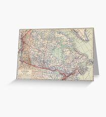 Canada Antique Maps Greeting Card