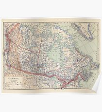 Canada Antique Maps Poster