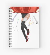 Beautiful girl under the hood Spiral Notebook