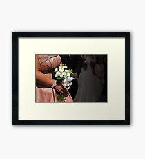 Bride & bouquet Framed Print