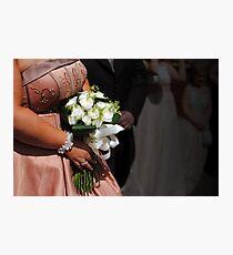 Bride & bouquet Photographic Print