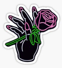 Neon Rose Sticker