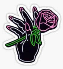 Neon Rose Sticker