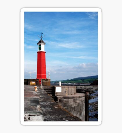 Watchet lighthouse in colour Sticker