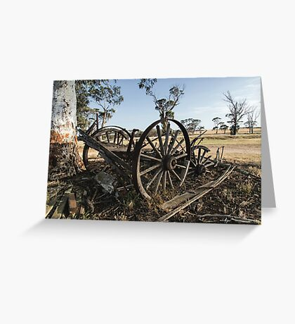 The Old Wagon Greeting Card