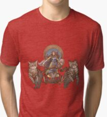 Freya Driving Her Cat Chariot Tri-blend T-Shirt