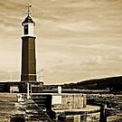 Watchet harbour and lighthouse, Somerset, England by Lissywitch