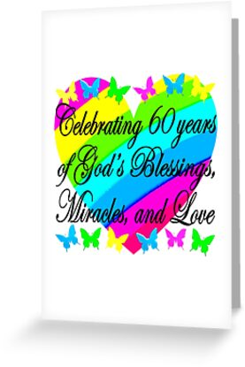 CHRISTIAN 60TH BIRTHDAY GODS LOVE DESIGN