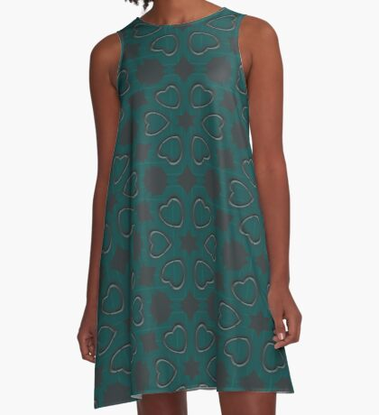Silver Hearts by Julie Everhart A-Line Dress