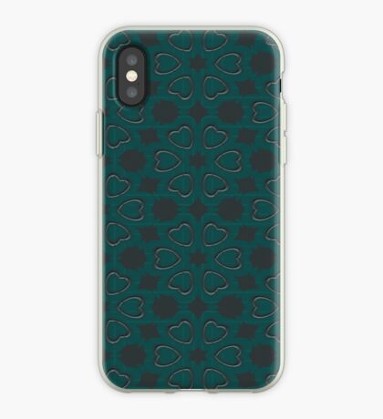 Silver Hearts by Julie Everhart iPhone Case