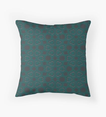 Silver Hearts by Julie Everhart Throw Pillow