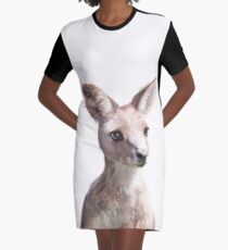 Little Kangaroo Graphic T-Shirt Dress