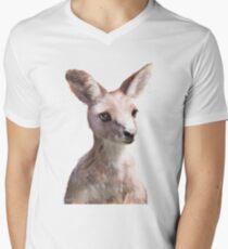 Little Kangaroo Mens V-Neck T-Shirt