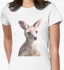 Little Kangaroo Fitted T-Shirt