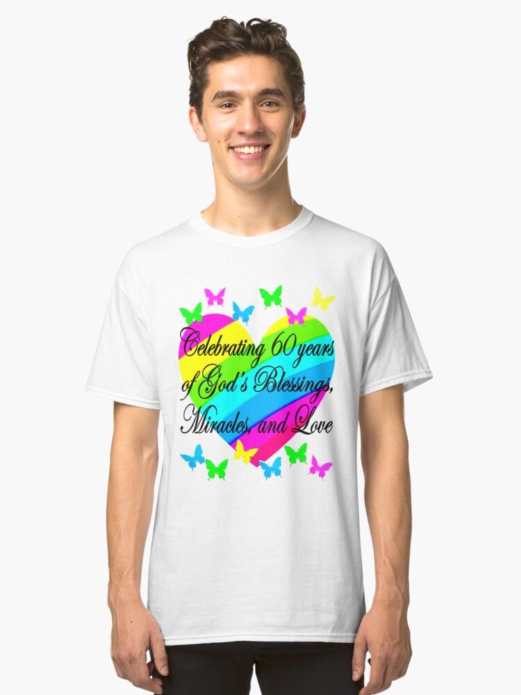 PRETTY HEART 60TH BIRTHDAY DESIGN Classic T Shirt Front