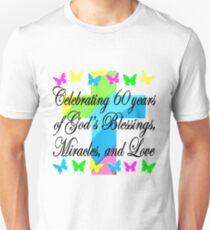 BEAUTIFUL RELIGIOUS 60TH BIRTHDAY DESIGN Unisex T Shirt