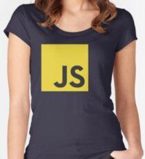 javascript js programming language logo Women's Fitted Scoop T-Shirt