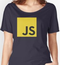 javascript js programming language logo Women's Relaxed Fit T-Shirt