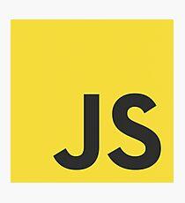 javascript js programming language logo Photographic Print