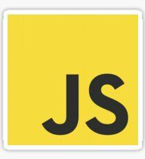 javascript js programming language logo Sticker