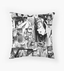 Gakkou Gurashi School-Live Manga  Throw Pillow