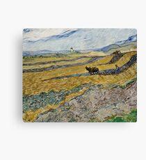 Vincent Van Gogh - Enclosed Field With Ploughman 1889 Canvas Print