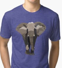 Elephant, Graphic Design Tri-blend T-Shirt