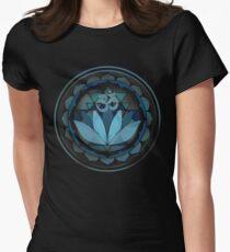 Buddhist lotus yoga sanskrit om Women's Fitted T-Shirt