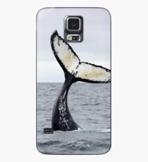 Waving Whale's Tail Case/Skin for Samsung Galaxy